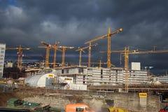 Stuttgart 21 - chantier de construction Images stock