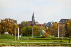 Stuttgart, Church Berg, Lower Castle Garden Royalty Free Stock Image