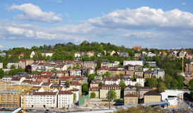 Stuttgart city elevation view Royalty Free Stock Photography