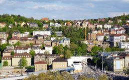 Stuttgart city elevation view Stock Images