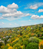 Stuttgart city, Germany. Autumn landscape. Cloudy blue sky Royalty Free Stock Photo