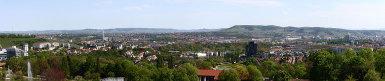 Stuttgart city panorama Royalty Free Stock Images