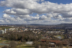 Stuttgart city skyline Germany Royalty Free Stock Image