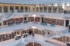 Stuttgart - Contemporary public library Royalty Free Stock Photography