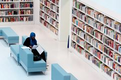 Stuttgart dat - in de openbare bibliotheek bestudeert Royalty-vrije Stock Foto