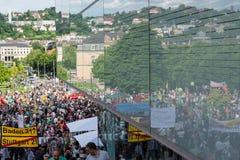Stuttgart 21 - Demonstraci spotkania protesty przeciw Turcja Zdjęcie Royalty Free