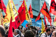 Stuttgart 21 - Demonstration meeting protests against Turkey Royalty Free Stock Images