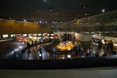 STUTTGART, DEUTSCHLAND - 30. DEZEMBER 2018: Innenraum des Museums stockfoto