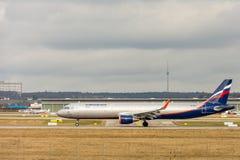 Stuttgart, Deutschland - 3. Februar 2018: Airbus-Flugzeug A32 lizenzfreies stockfoto