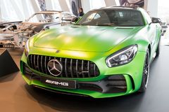 Stuttgart, Duitsland - Februari 03, 2018, Mercedes Benz Muse royalty-vrije stock foto's