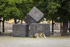 STUTTGART, DUITSLAND 31 MEI, 2012: Gedenkteken voor de Slachtoffers van Nazisme in Stuttgart stock afbeeldingen
