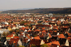Stuttgart-Esslingen - panoramic view Royalty Free Stock Images