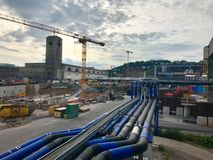 Stuttgart głównej staci budowa Zdjęcia Stock