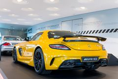 Stuttgart, Germania - 3 febbraio 2018, Mercedes Benz Muse immagine stock libera da diritti