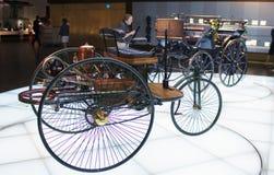 STUTTGART, GERMANIA 31 MAGGIO 2012: automobile d'annata all'esposizione del museo di Mercedes fotografia stock