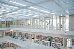 Stuttgart, Germania - 21 maggio 2015: La biblioteca pubblica di Stuttgart, Immagine Stock