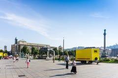 STUTTGART, GERMANIA - 15 settembre 2016: Schlossplatz è il lar Immagine Stock Libera da Diritti