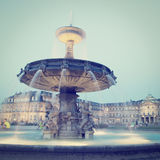 Stuttgart Germany. Schlossplatz City Square  in Stuttgart, Germany with retro effect Royalty Free Stock Image