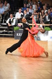 Stuttgart, Germany - Adance couple in a dance pose during Grand Slam Standart Stock Images