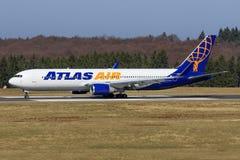Stuttgart /Germany: BBoeing 767 from Atlas Stock Images