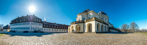 Stuttgart , Germany - February 19 2018 : Castle Solitude has been build by Philippe de La Guepiere. Beginning in the year 1752 Stock Images