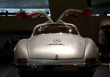 Stuttgart, Germany - 10 February 2016 : Interior of museum Mercedes-Benz Welt. The museum covers the history of the Mercedes-Benz and the brands associated Royalty Free Stock Images