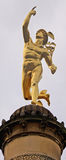 Stuttgart, Germany golden Hermes statue. Stuttgart, Germany - golden Hermes statue on a column near Schlossplatz royalty free stock photo