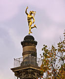 Stuttgart, Germany golden Hermes statue Royalty Free Stock Image