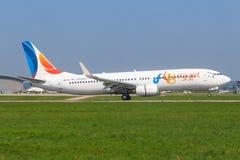 Fly Egypt Boeing 737. Stuttgart/Germany Mai 27, 2019: Fly Egypt Boeing 737 last flight at Stuttgart Airport stock photos