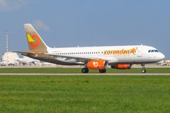 Orange2fly A 320 stock photography
