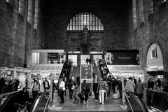 Interior of the building of the central railway station. royalty free stock photos