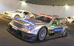 STUTTGART,GERMANY- MAY 31, 2012:  racing cars hall in Mercedes museum Stock Photos