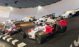 STUTTGART,GERMANY- MAY 31, 2012:  racing cars hall in Mercedes museum Stock Images
