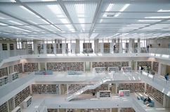 Stuttgart, Germany - May 21, 2015: The Stuttgart Public Library, Stock Images