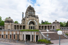 Stuttgart Germany Pragfriedhof Cemetery Feierhalle Architecture Royalty Free Stock Image