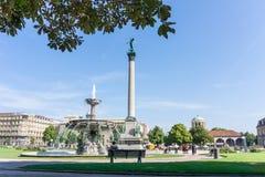 STUTTGART, GERMANY - September 15, 2016: Schlossplatz is the lar Stock Image