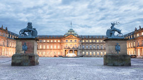 Stuttgart, Germany. View of the Entrance of the so called Neues Schloss of Stuttgart Royalty Free Stock Photos