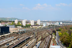 Stuttgart mail railway station and nearby area Stock Photos