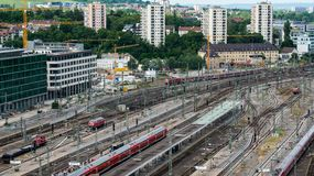 Stuttgart main railway station - S21 Stock Photography