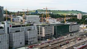 Stuttgart main railway station - S21 stock images