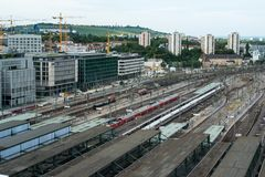Stuttgart main railway station - S21 Stock Image