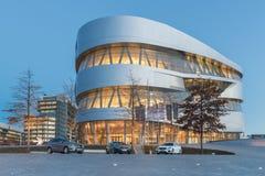 Stuttgart Mercedes-Benz Museum Arkivbilder