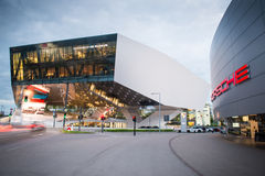 Stuttgart, museo di Porsche Fotografia Stock