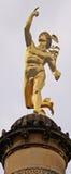 Stuttgart, Niemcy Hermes złota statua Zdjęcie Royalty Free