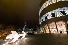 Stuttgart Niemcy, Styczeń, - 07, 2018 Mercedez Benz Museu Zdjęcia Stock