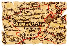 Stuttgart old map Stock Image