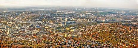 Stuttgart panorama przed budową Stuttgart 21 - Obrazy Royalty Free