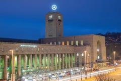 Stuttgart Railway Station, Germany, at dusk Royalty Free Stock Photography