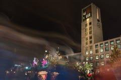 Stuttgart Rathaus Christmas Market 2016 Weihnachtsmarkt Lights L Royalty Free Stock Image