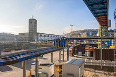 Stuttgart 21, S21 - kolejowy projekt Zdjęcia Royalty Free